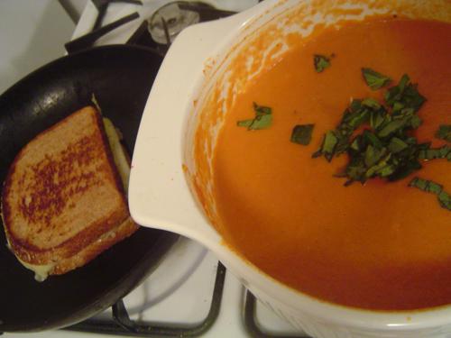 TomatoSoupandGrilledCheese
