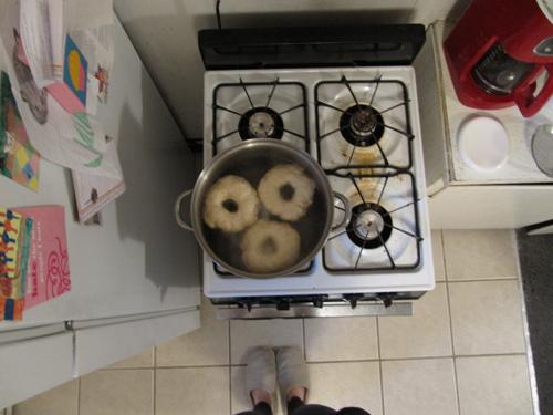 Bagels-Boiling
