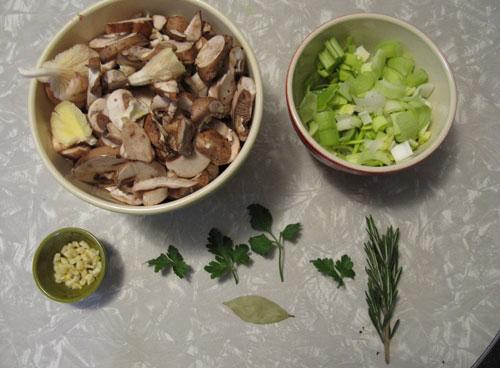 Mushroom Veloute--Prep